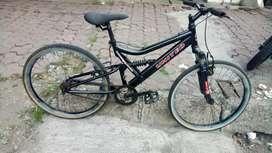 sepeda gunung uk24 rangka kokoh rem pakem