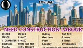 Construction company have required worker