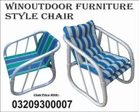 UPVC Frame Pvc Coated Fabric Garden Chair Orbit