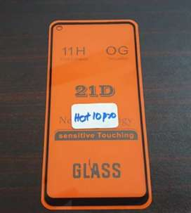 21D Glass protector for infinix hot 10