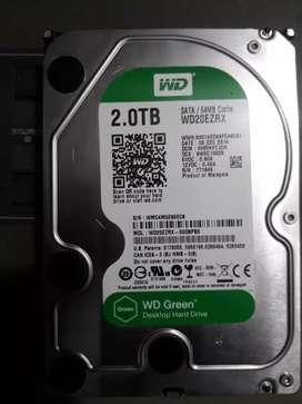 "Weatren digital ""Wd"" 2tb internal hard drive green caver.  ok position"