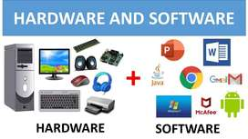 COMPUTER HERAD WARE & SOFTWARE + TV LCD  SOUND SYSTEM REPARING