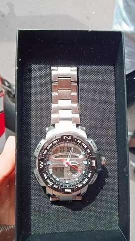 Casio g-shock black silver new + kotak