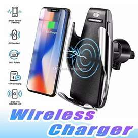 car auto sensor wireless  charger and holder