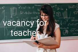Urgently required teacher for  play to 12th science , art & commerce
