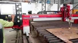 Required Operator for CNC Plasma/Gas Cutting Machine