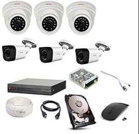 6HD CCTV CAMERA FULL SET UP WITH INSTALLATION-