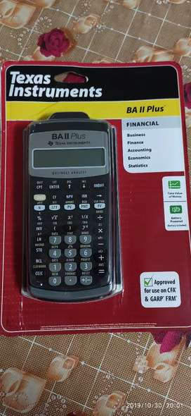 BA II Texas Plus Financial Calculator