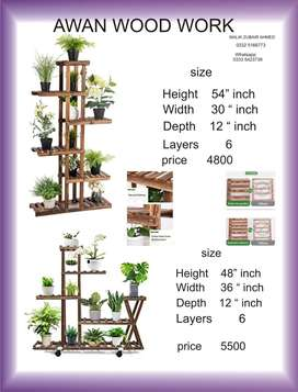 wood stand for plants
