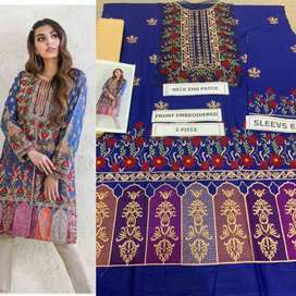 Lawn embroided 2 pcs master copy
