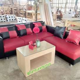 Sofa tamu L putus cover full vinyl