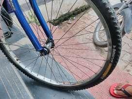 Hero old cycle . Hero street racer Blue old bicycle . Old bicycle