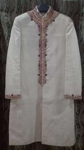Sherwani, qula, and khussa for sale. 2 to 3 time use fresh