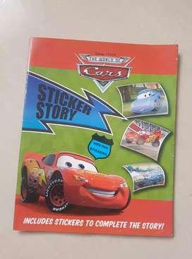Buku cerita sticker story the cars