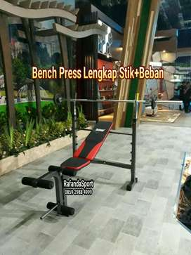 Alat Olahraga Bench Press Lengkap Stik + Barbel