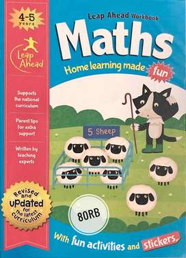 Buku Anak Import Maths Leap Ahead Workbook Home Learning Made Fun 4-5y