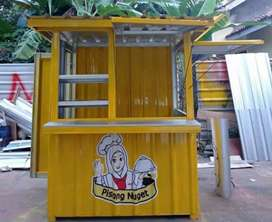 Booth gerobak container kontainer