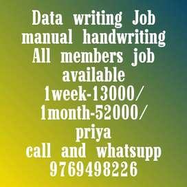 Hand writing Job New opening