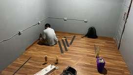 Lantai vinyl kayu spc praket penganti keramik granit wallpaper karpet