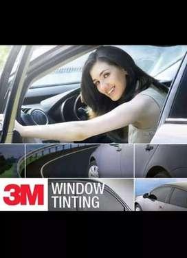 kaca film mobil dan gedung 3m auto film