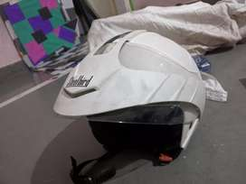 STEELBIRD white helmet