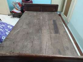Wooden double bed and 2 wooden single beds for sale