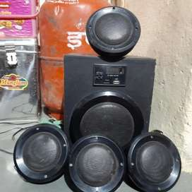 INTEX HOME THEATER with 4 speakers.