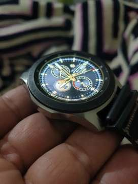 Samsung Galaxy Watch 46mm Bluetooth with Samsung wireless charger
