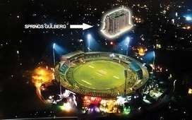 A REAL VIEW OF GADAFFI STADIUM FROM YOUR SPRING APARTMENT JUST 20% PAY