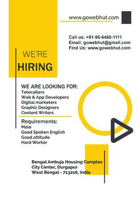 Urgently Need Telecaller, Website Developer, PPC Expert, Graphics Desi