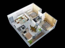 2 bhk flat in ds max synergy in Agrahara off Hennur Road