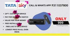 TATA SKY NEW HD CONNECTION WITH JUST RS 999/-c
