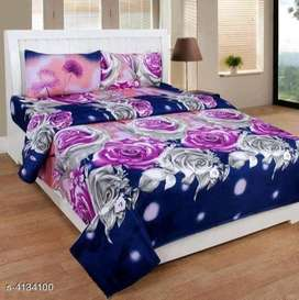 fancy double bedsheet with pillow cover