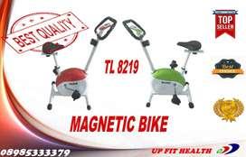 Sepeda Statis / Magnetik Bike / Merah & Hijau / Total UP