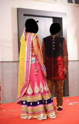 1 tym used heavy lehenga for sale..Its as good as