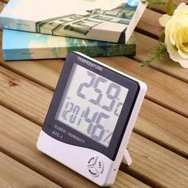 AB Thermometer ruangan digital plus jam