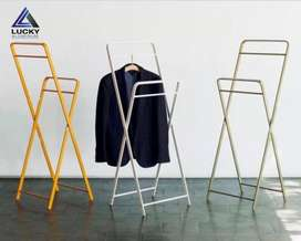 Aluminium Folding Rust Proof Clothes Hanging Stand Rack LuckyHomePK