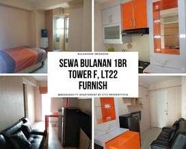 Apartemen Bulanan Bassura 1BR Furnish Lt.22 Tower C, 14CITY1024