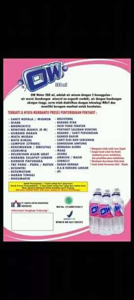 AIR MINUM OW berbagai penyakit bisa di sembuhkan