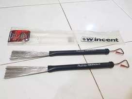 Wincent Pro Brush Medium Wires Stick Drum