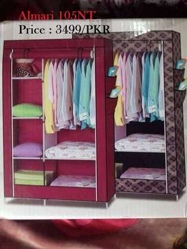 Portabale Almirah timber cloth cabinet can turn out to be cerise purpl