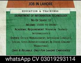 Educational Management Job Availability (Full Time/Part Time)