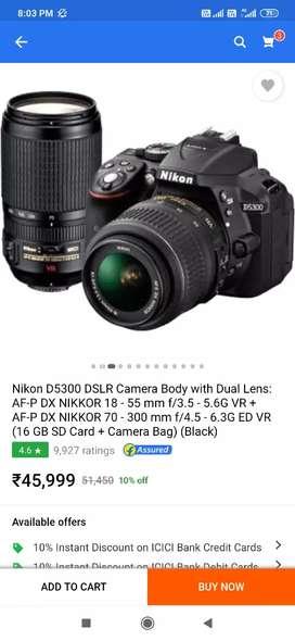 D5300  dual kit lens