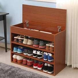 rak sepatu backdrop partisi ruangan lemari almari dipan OKT43