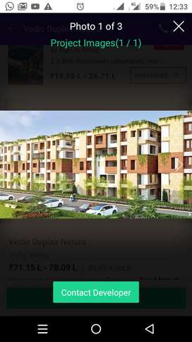 4 bhk flat with one servant room, with greenery with all ammenitie