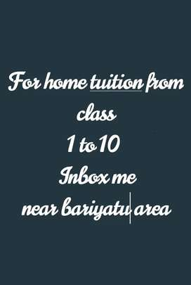 For home tutn from class 1 to 10 nbox me