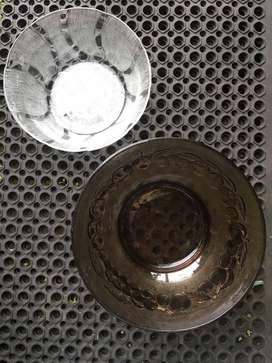 Mangkok kaca antik bahan tebal