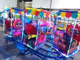 kereta peluang usaha mainan odong cartoon eskavator M6