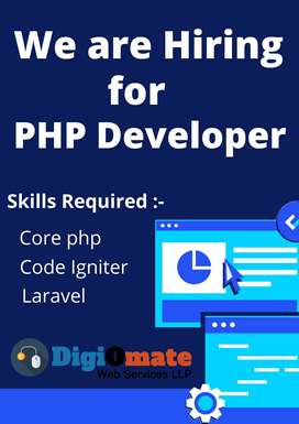 Hiring for Php Developer   Exp 2-3 Years