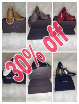 Sepatu Gucci, D&G, Givenchy 30% off
